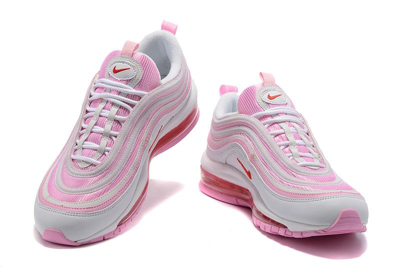 half off 8d4c6 bf497 Spring Summer 2018 Popular 2017 Winter Fall WMNS Nike Air Max 97 GS Cool  Grey Think Pink