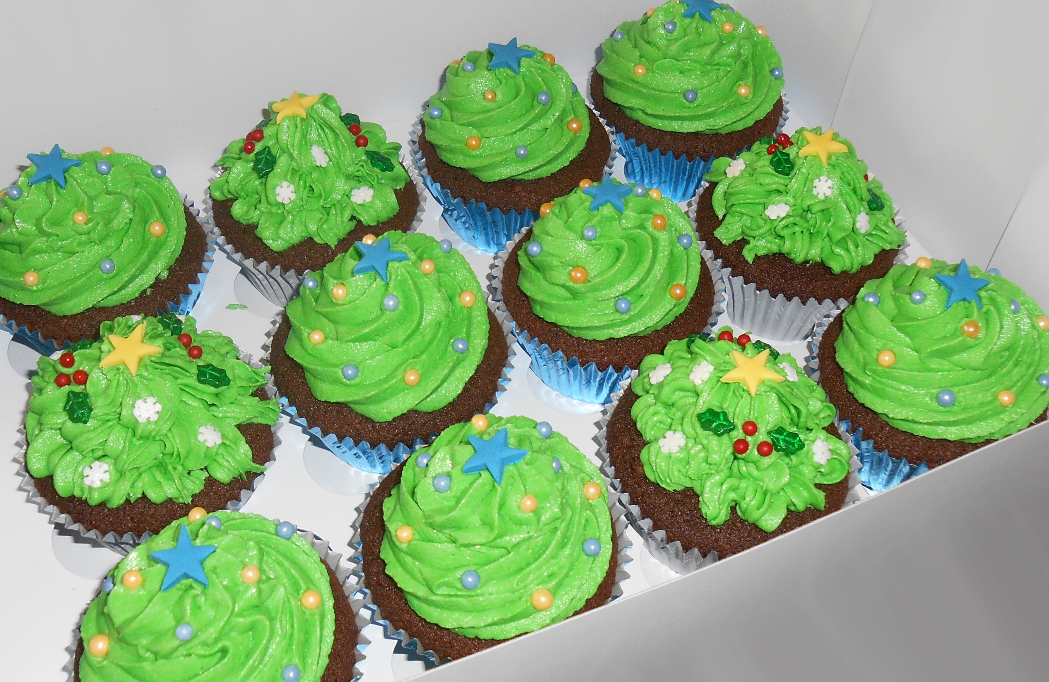 Christmas Tree Cupcakes Nada Cakes Canberra Trees