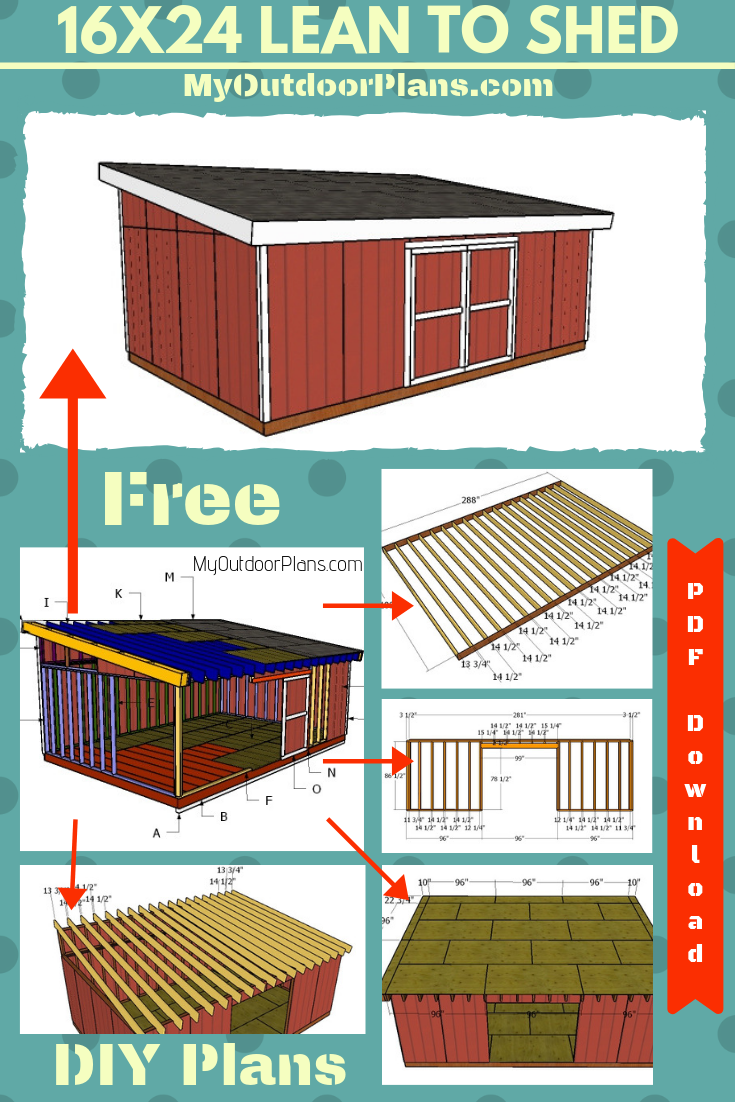 16x14 Lean To Shed Plans Lean To Shed Plans Storage Shed Plans Shed Building Plans