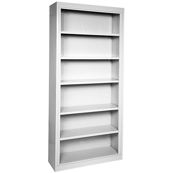"Store reference materials and display pictures in style on Sandusky Lee's Elite Welded Steel Bookcase. This attractive 22-gauge welded steel bookcase comes in a great selection of powder-coat paint colors to match your décor. Adjust the shelves in 1"" increments to fit items of different sizes"