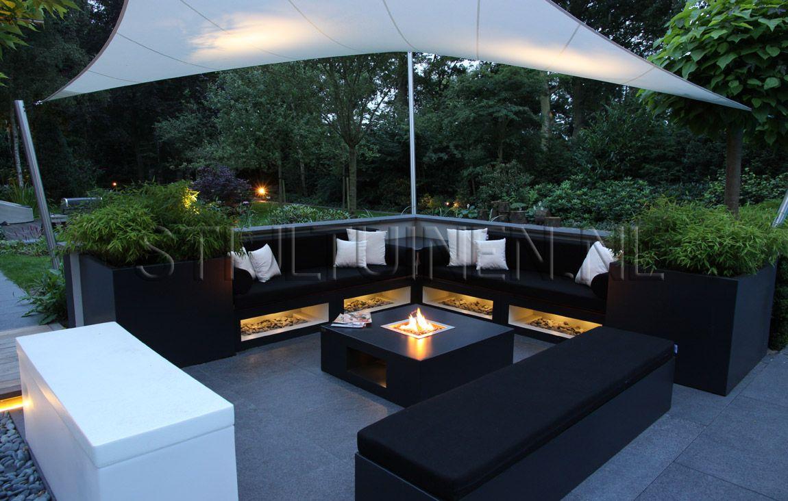 Afbeeldingsresultaat voor loungeset modern strakke tuin tuin