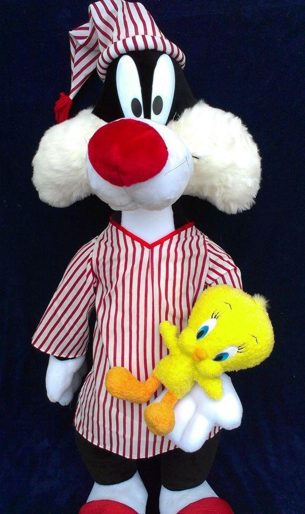 Warner Bros Looney Tunes Jumbo 4 Ft Sylvester Cat