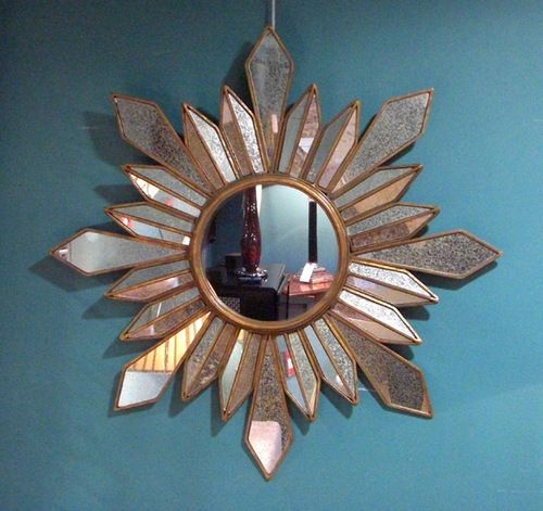 Starburst Mirror :: A star-shaped mirror with antiqued glass facets ...