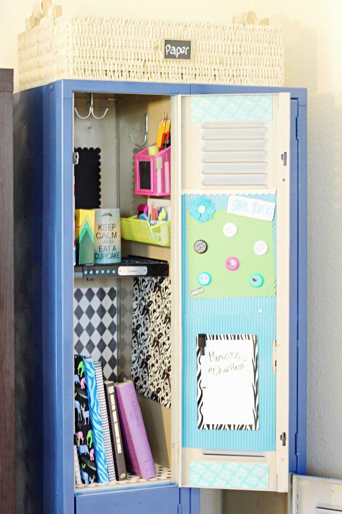 Organized Locker Organizational Pinterest Lockers