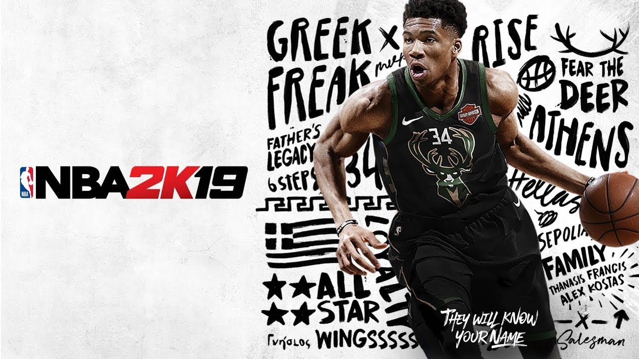 Giannis Antetokounmpo Announced as NBA 2K19 Standard Cover