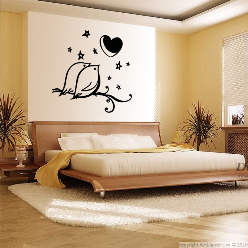 Ambiance Wall Stickers sticker oiseaux, coeur et étoiles | pinterest | wall decals and walls