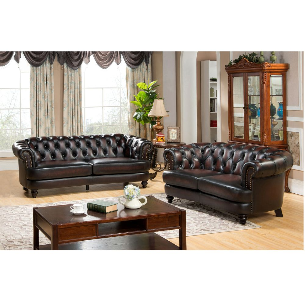 Best Moore Hand Rubbed Tufted Brown Chesterfield Top Grain 400 x 300