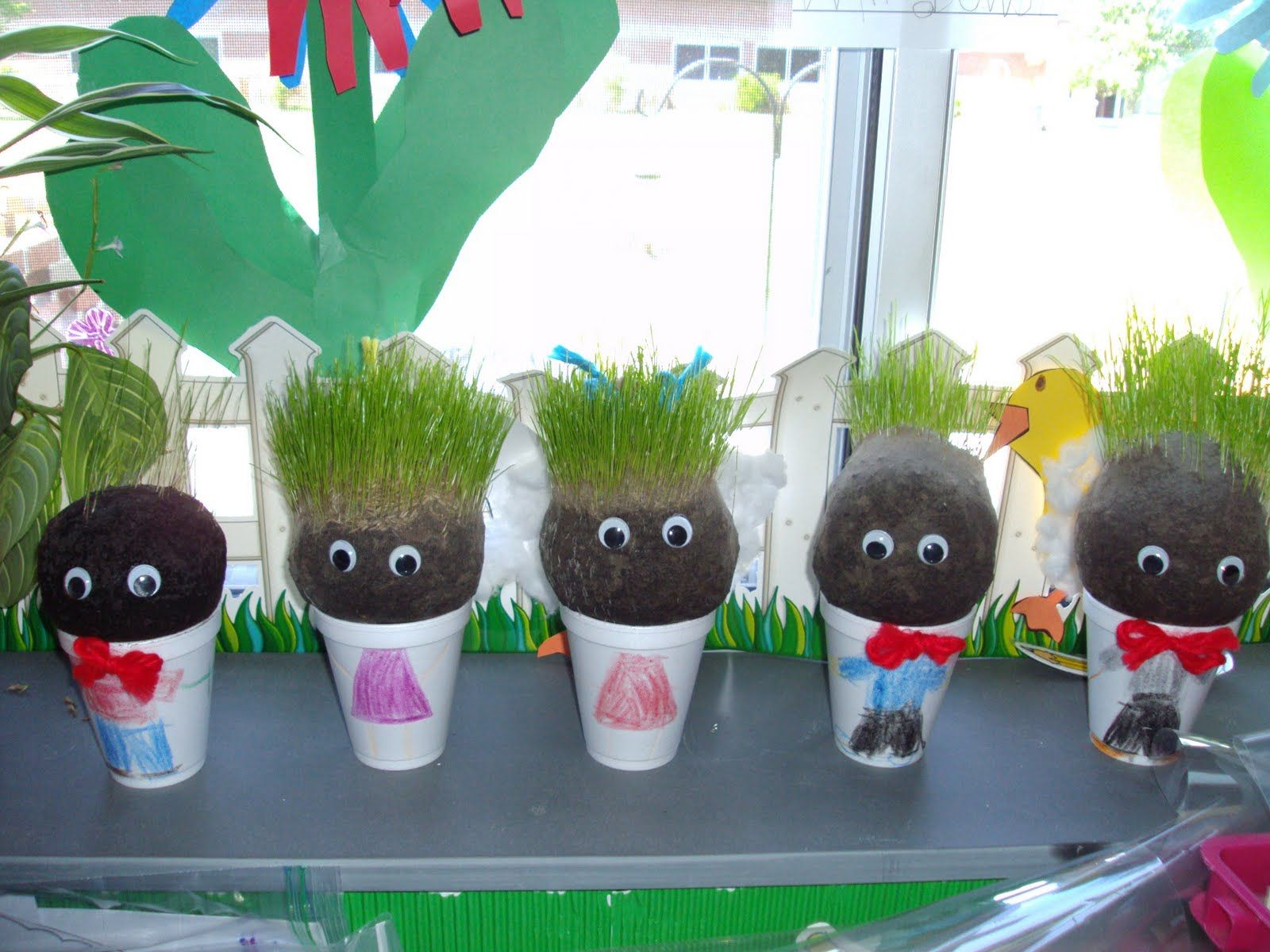 The Cutest Project Ever Chia Pet Arts And Crafts For Kids