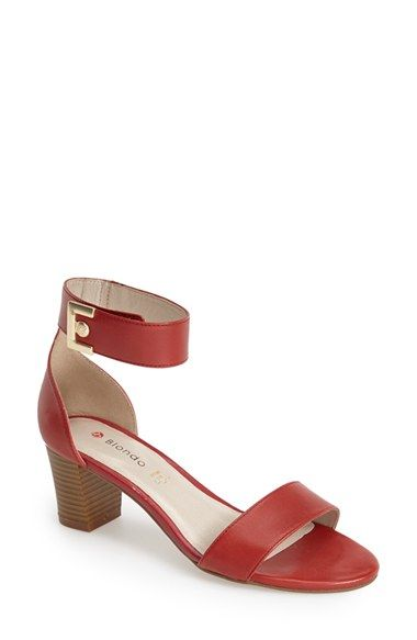 Blondo 'Dalina' Leather Ankle Strap Sandal (Women) available at #Nordstrom