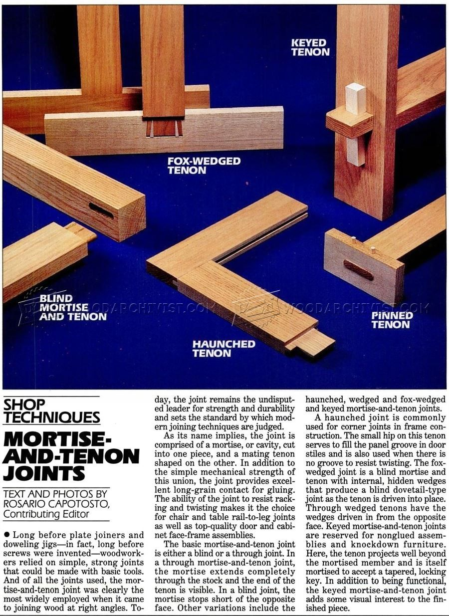 mortise and tenon joints - joinery | woodworking