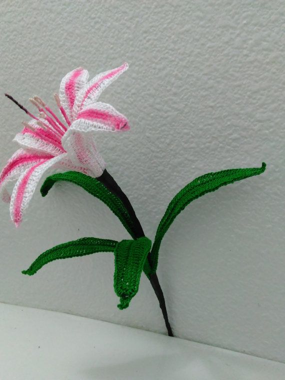 Crochet Lily Pattern Crinum Lily Milk And Wine Lily Crocheted