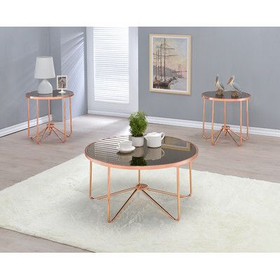 Alivia Coffee Table Set Gold Coffee Table Coffee Table Rose