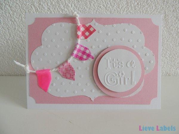 Handgemaakte kaart - It's a girl