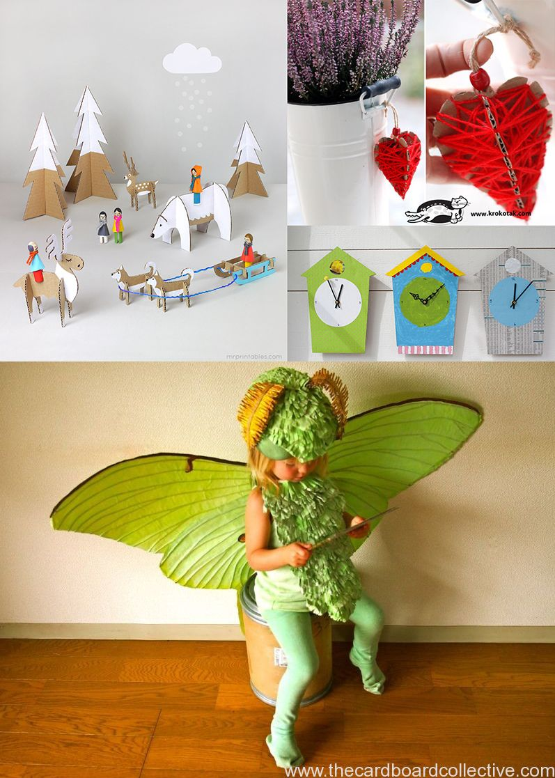 The Crafty Kitty | eco-friday: recycled cardboard craft tutorials, round up