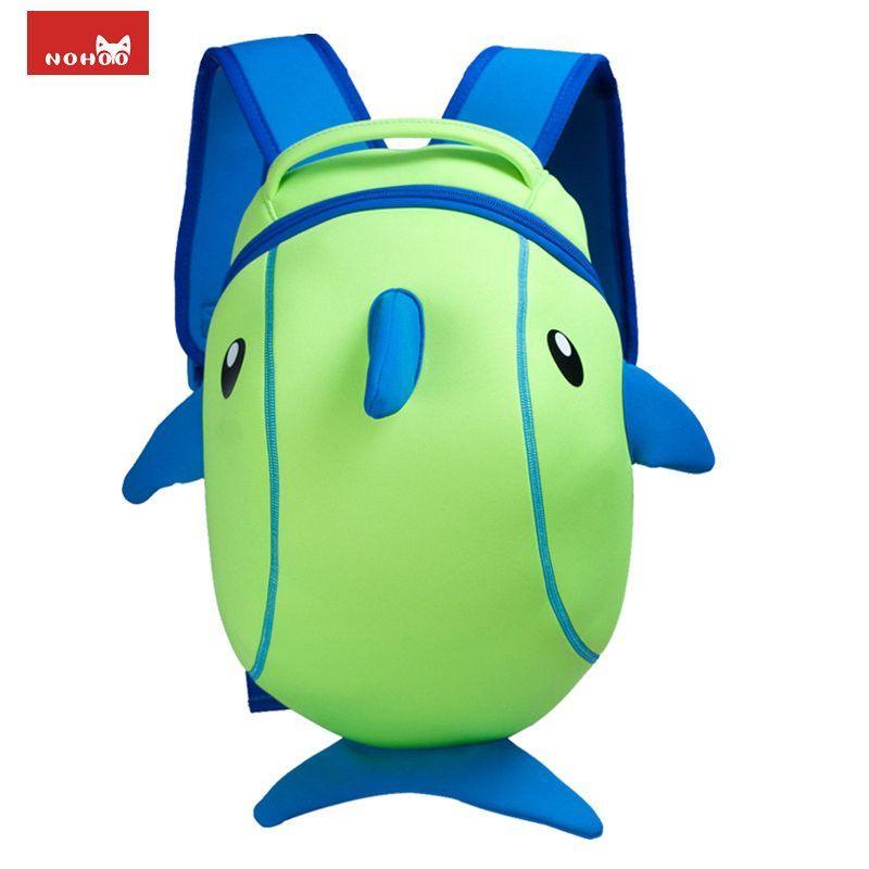 Nohoo Waterproof Kids Backpack 3D Cute Shark Cartoon School ...
