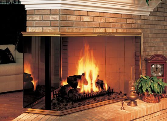 The Paterson Sliding Masonry Fireplace Door Is Truly A Work Of Art