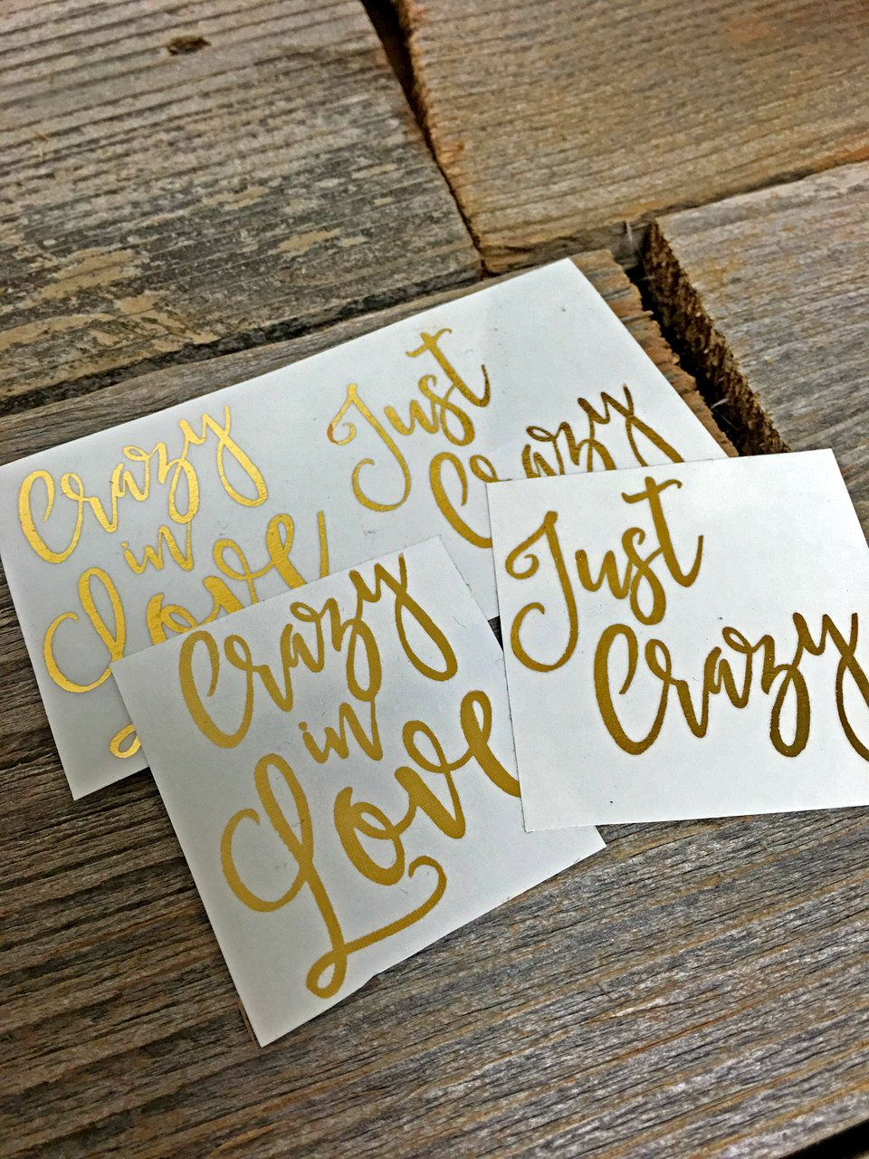 Crazy in Love - Just Crazy - Temporary Tattoos  Sparkle everywhere! You and your bridal party will shine with pride and these tantalizing tattoos. Marriage is forever, but these tattoos are just for the celebrations! Get all your girls glowing!