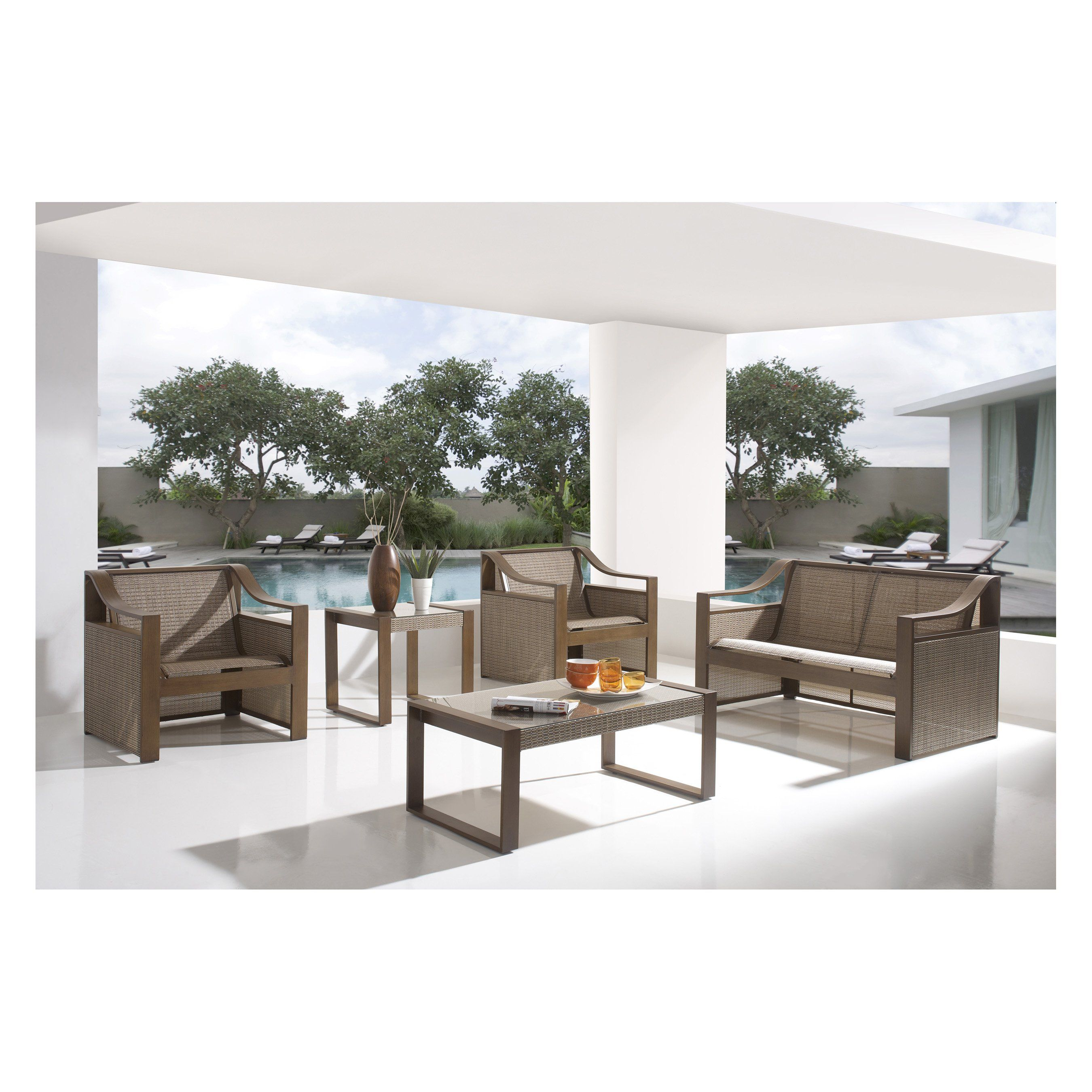 Have to have it Hospitality Rattan Venetian Sling Patio 5 Piece