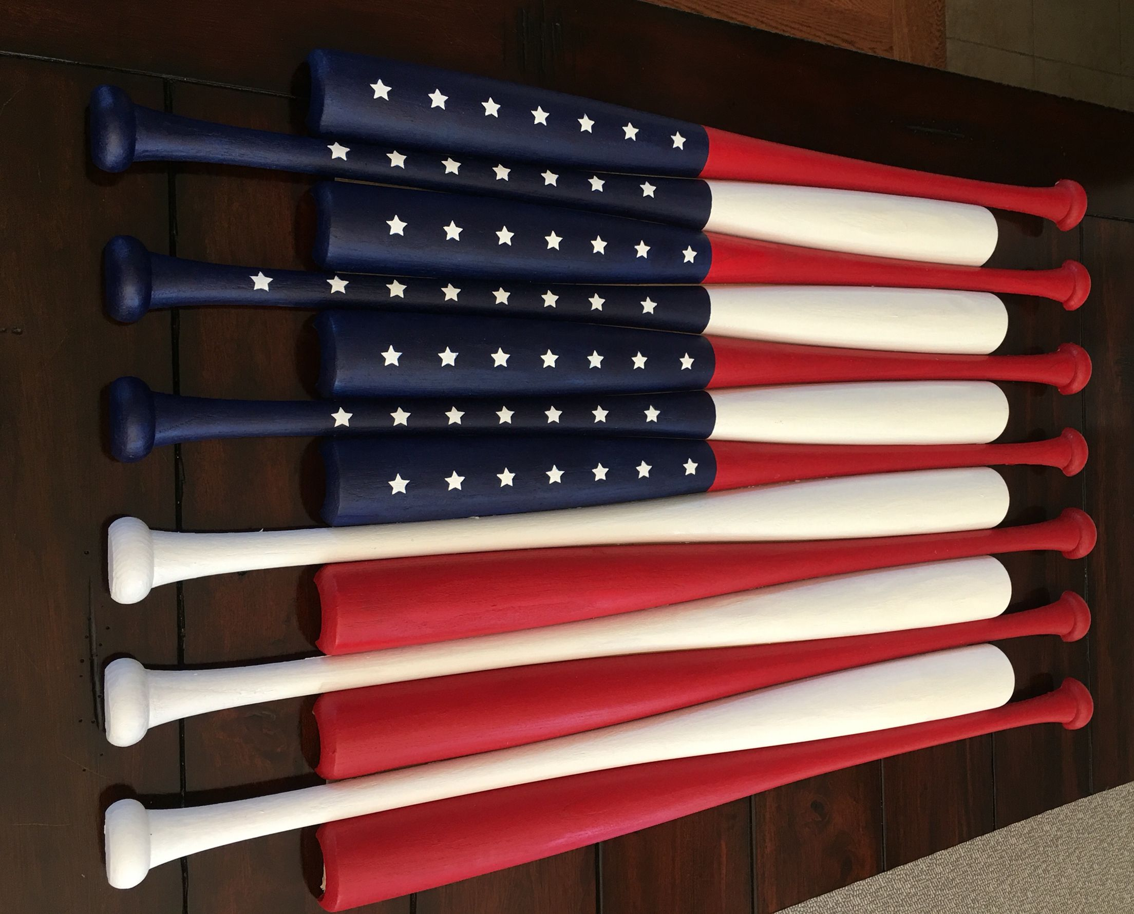Custom made American Pallet with bats! | Wood flag, Pallet ...