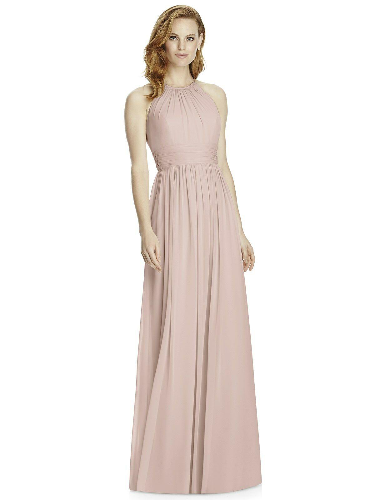 40b7c9491b Studio Design Collection 4511 Full Length Halter Neckline Bridesmaid Dress