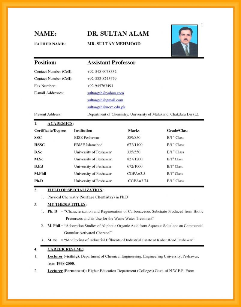 Curriculum Vitae Format For Job In India Application Sri Lanka In 2021 Stellenbewerbung