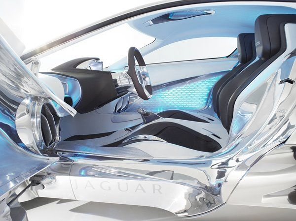 Jaguar Concept Car Electroluminescent Panel And Wire Interior Amazing Design