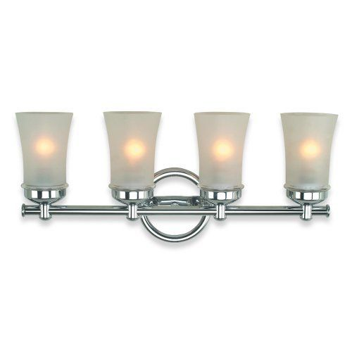 Royce Lighting RV305/4-18 Four-Light Vanity Polished Chrome with Frosted Globes  sc 1 st  Pinterest & Royce Lighting RV305/4-18 Four-Light Vanity Polished Chrome with ... azcodes.com