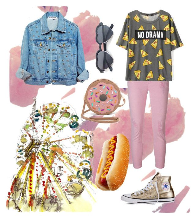"""""""take me to hot dog stand"""" by kirac on Polyvore featuring Patricia Chang, MICHAEL Michael Kors, Converse, statefair and summerdate"""