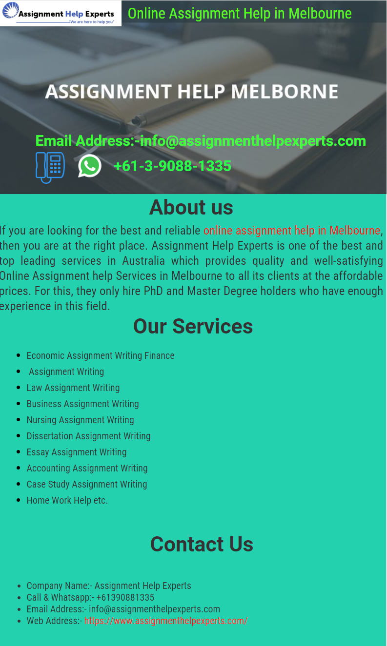 Law assignment help melbourne