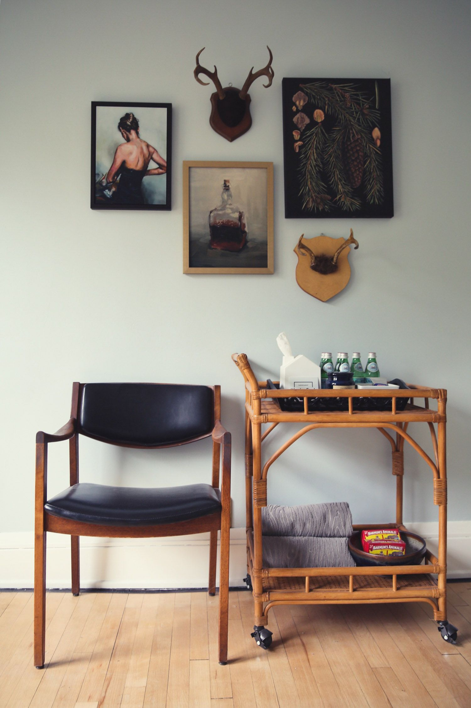 west elm A Modern Look for A Century Old Craftsman Guest Room Bar