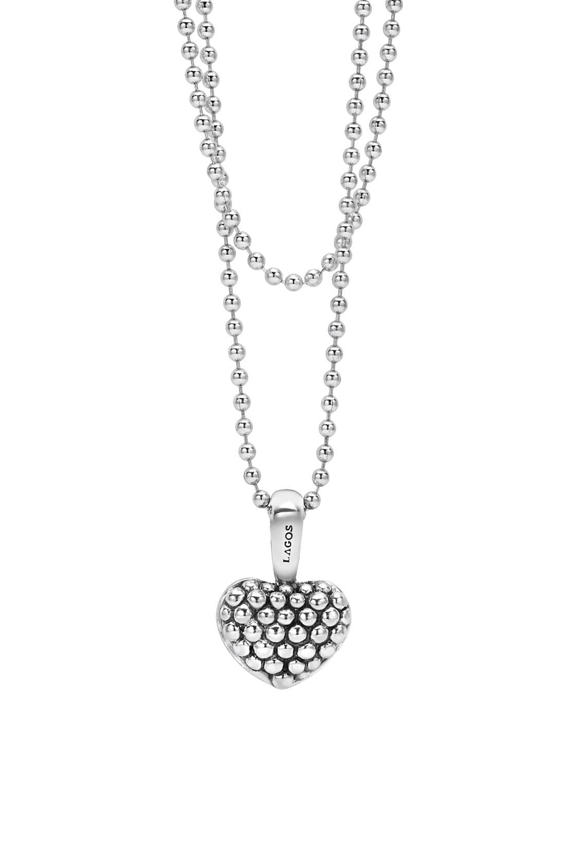 6f3d9f17a99 Women's Lagos Sterling Silver Heart Long Strand Pendant Necklace in ...