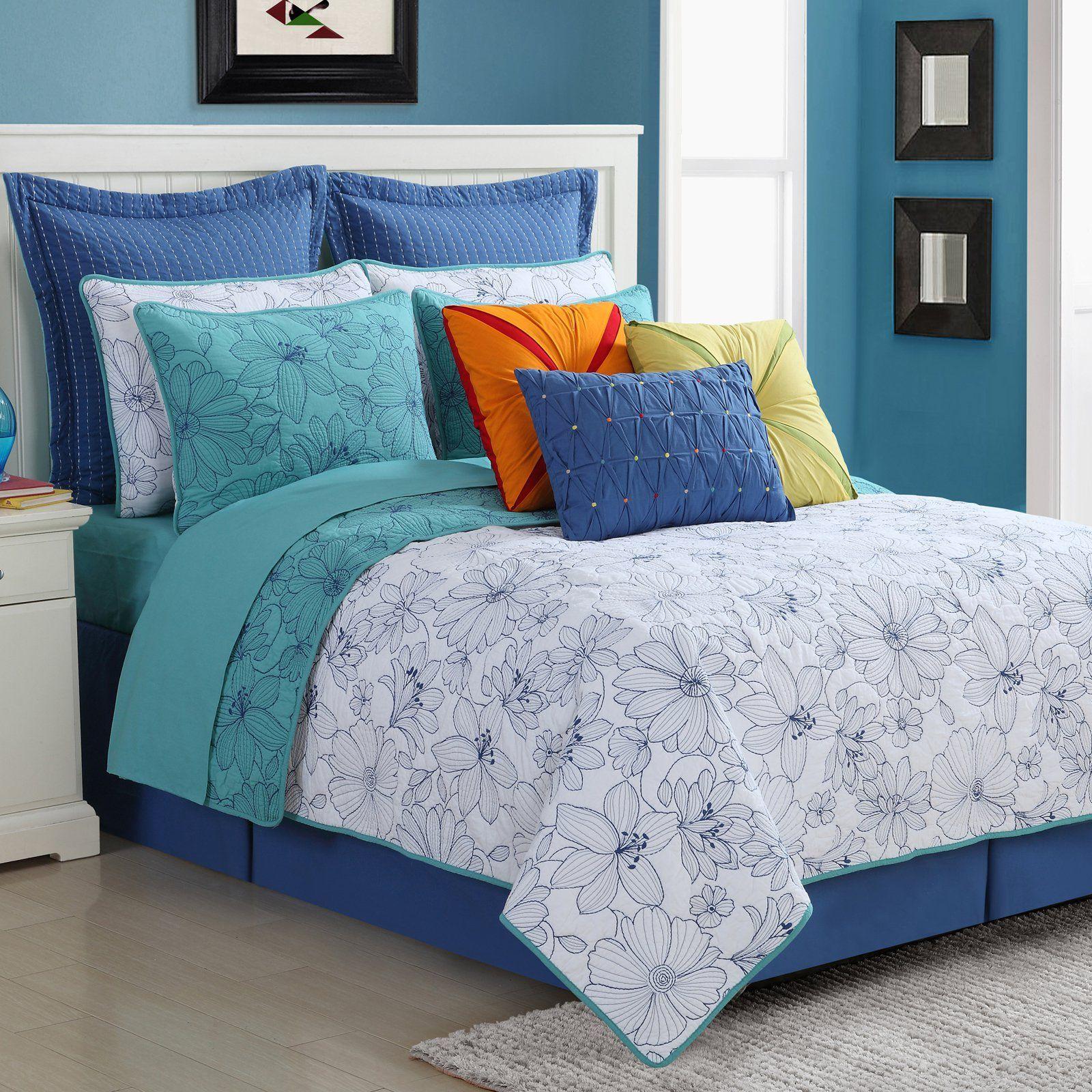Dash Reversible 140TC Cotton Quilt Set by Fiesta Bedding