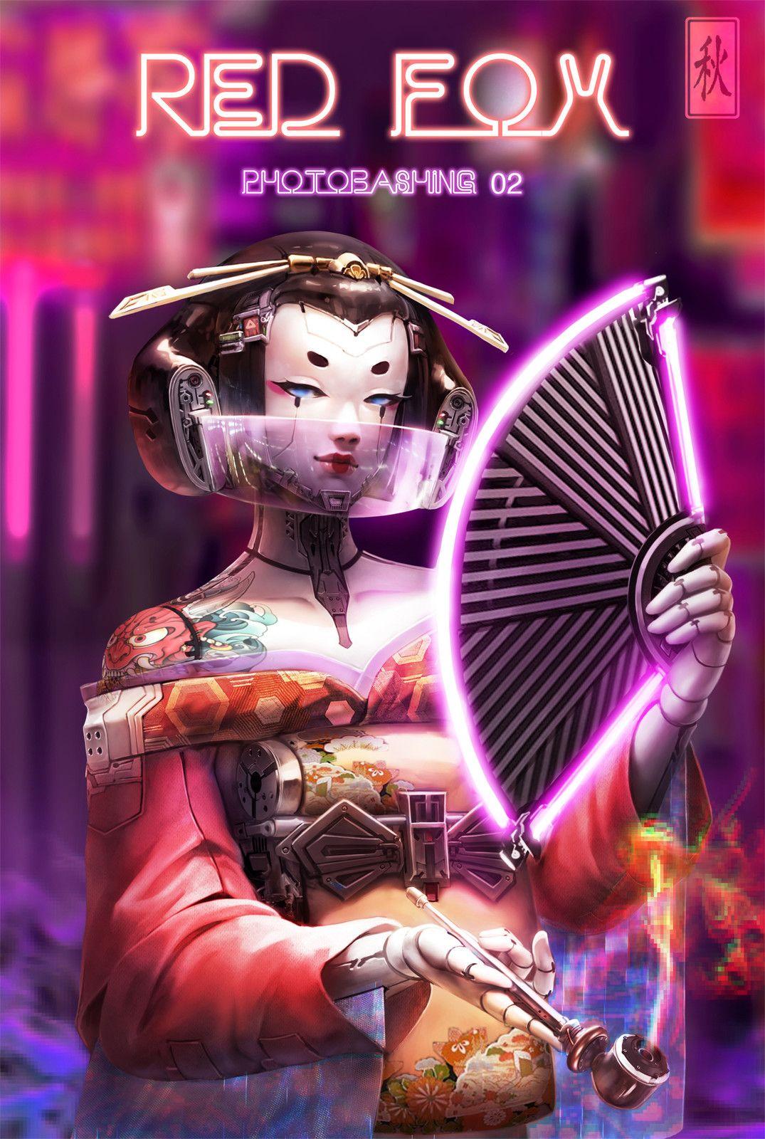 Geisha, Khoa Bui on ArtStation at https//www.artstation