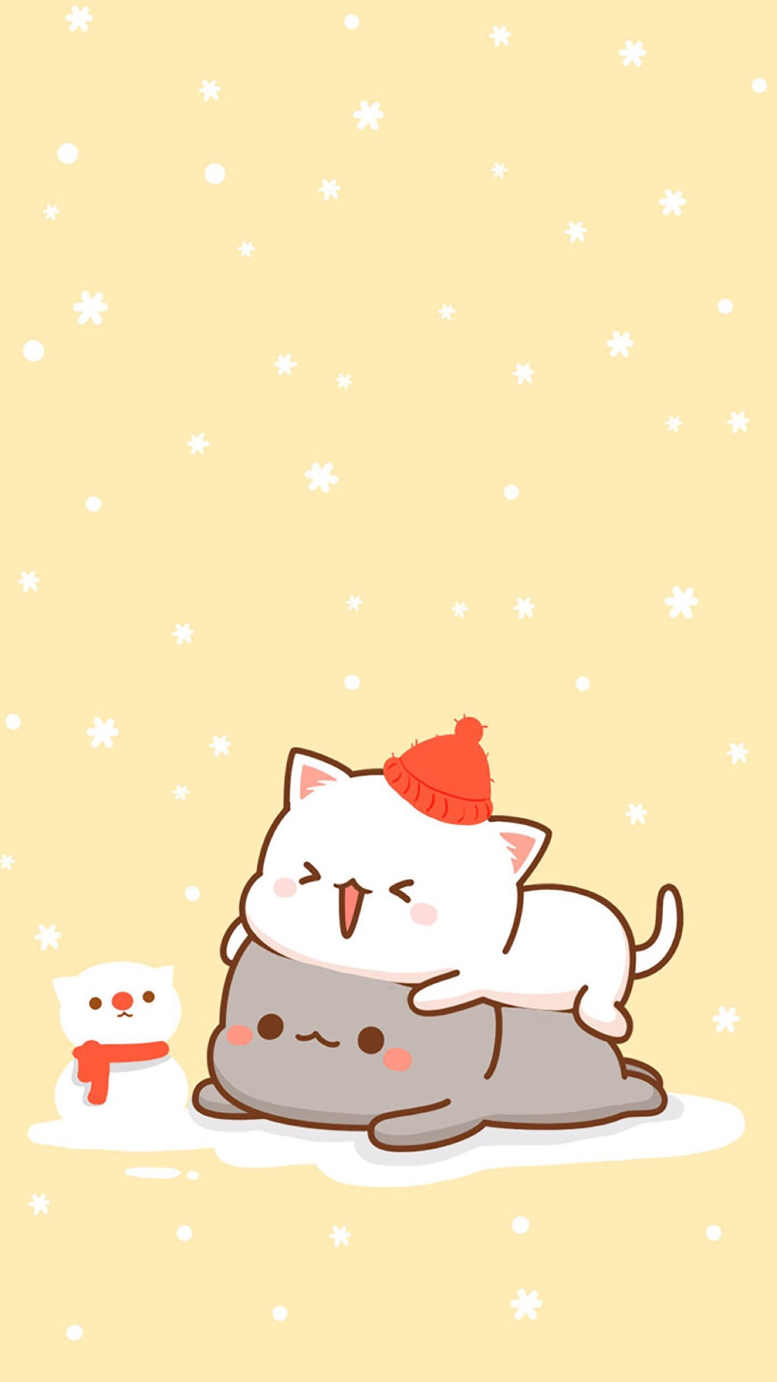 Милые Новогодние Обои На Телефон