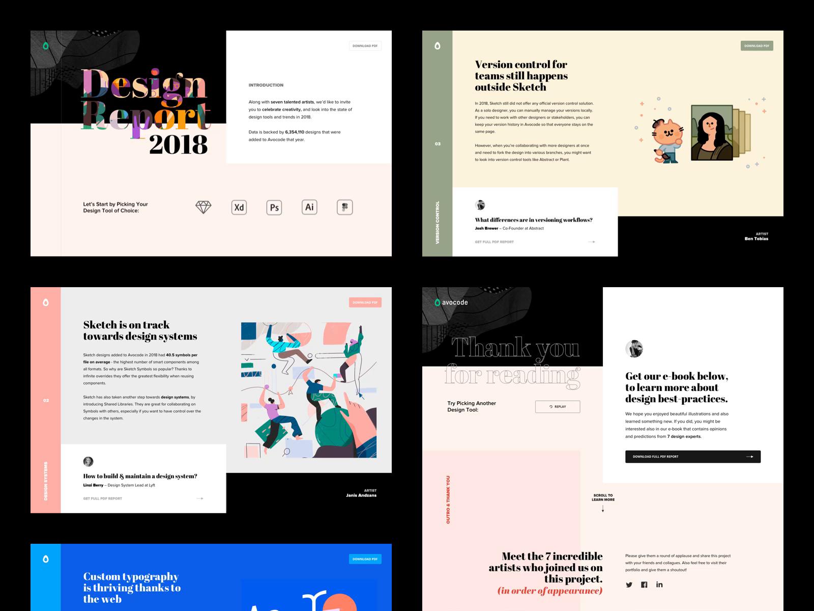 Design Report 2018 Web By Jan Vu Nam Dribbble Dribbble Business Website Design Web Design Creative Website Design