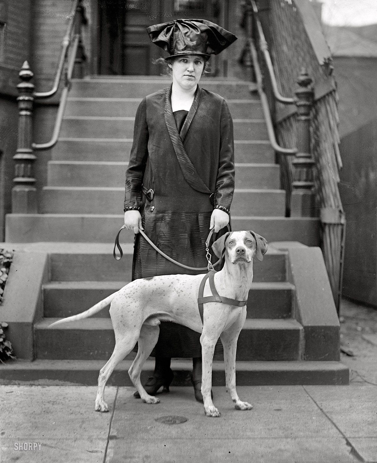 April 10 1925 washington dc miss nancy weeks with mr