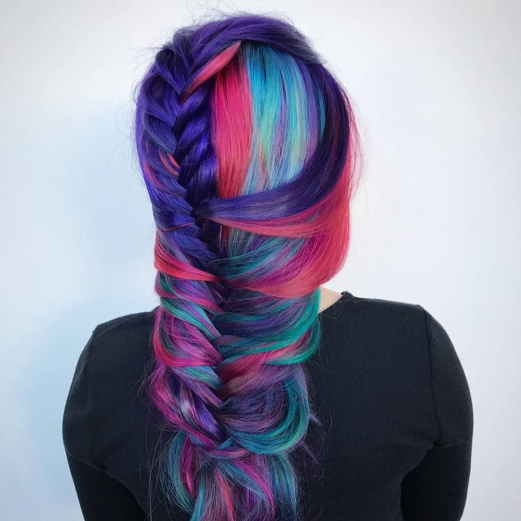 Awesome stunning purple and blue hair ideas newest trend in