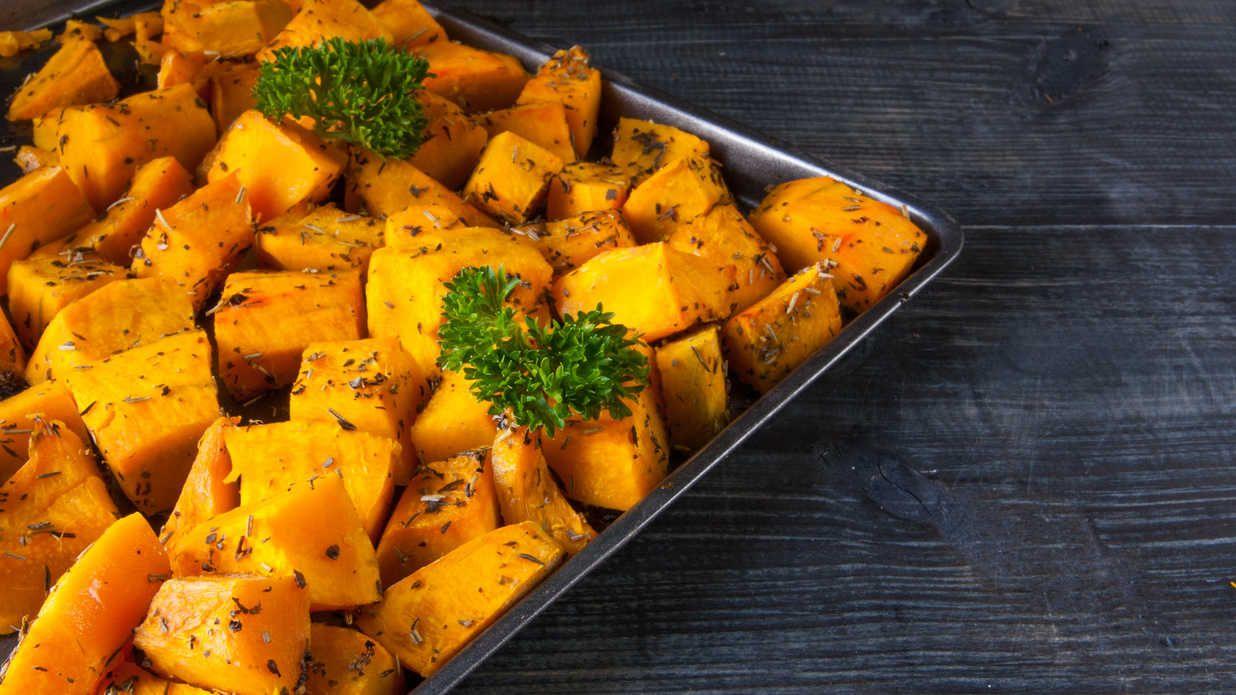 How To Roast A Pumpkin Butternut squash cubes, Cube