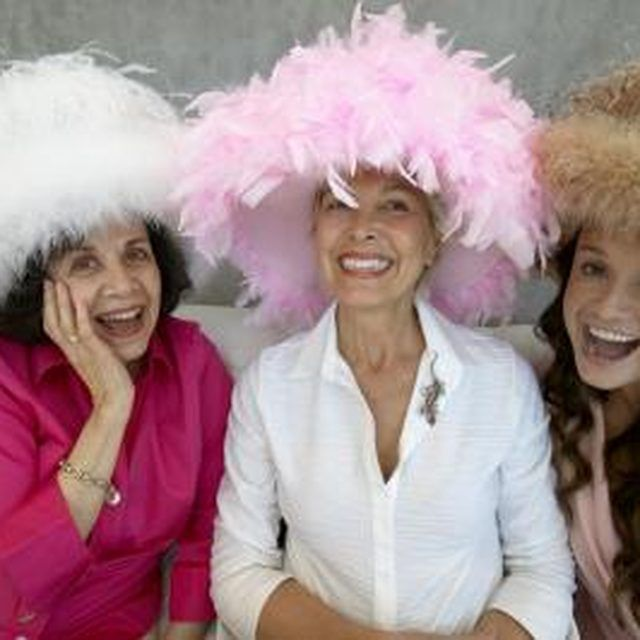 Bridal shower themes with big hats allow you to wear an accessory you couldn't wear every day.