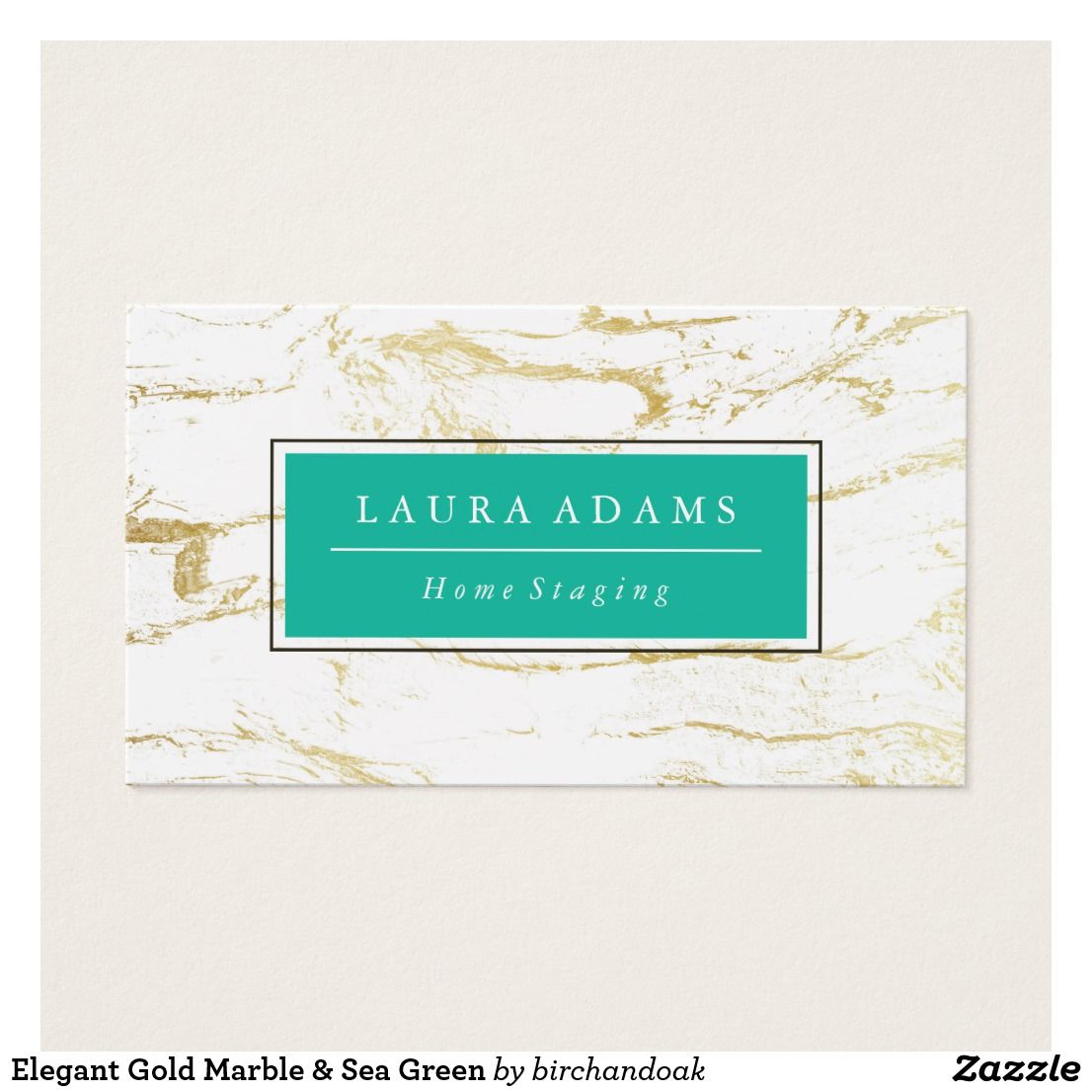 Elegant Gold Marble Sea Green Business Card Business Cards