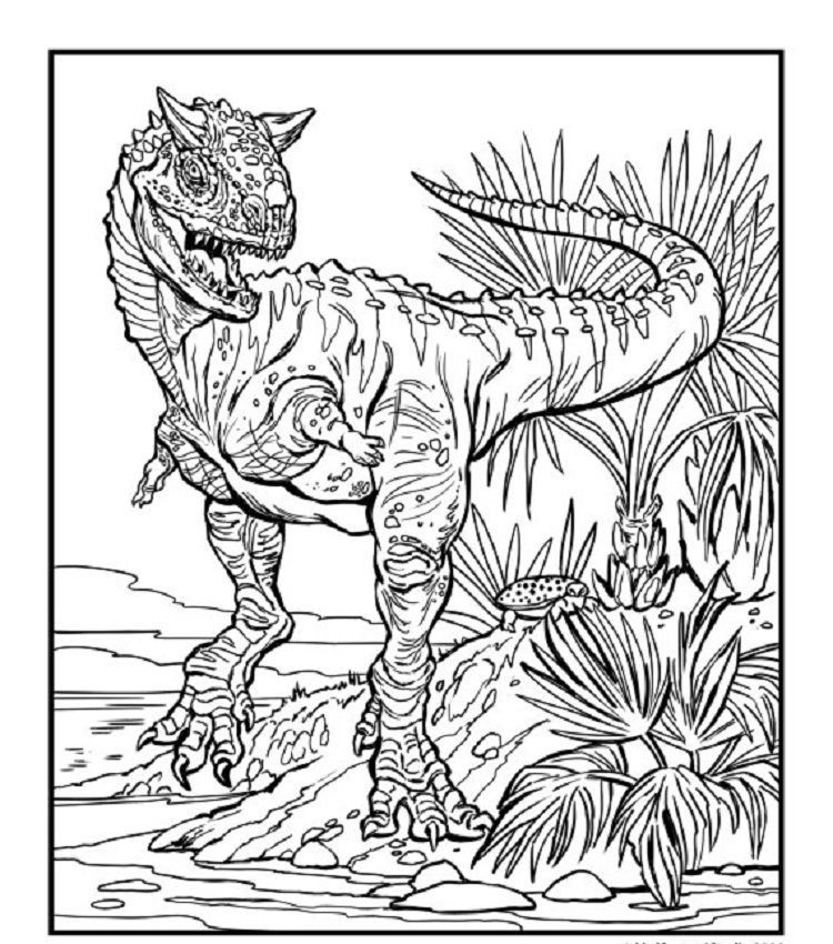 Advanced Dinosaur Coloring Pages. Download or print the