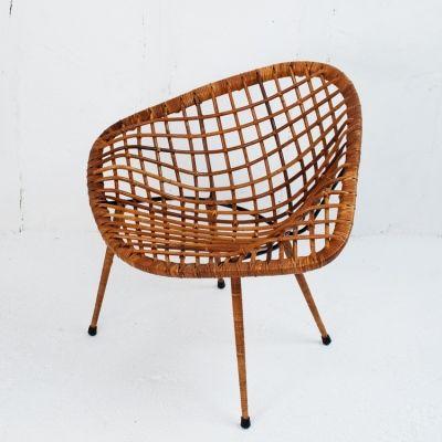 Perlapatrame meubles objets vintage FAUTEUIL ROTIN 50s