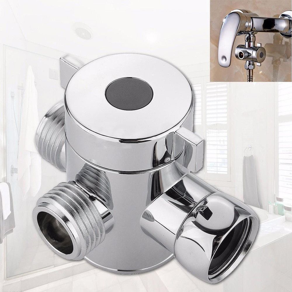 1 2 Inch Three Way T Adapter Valve For Toilet Bidet Shower Head