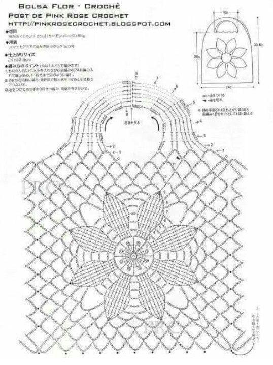 patrón frente cartera flor | crochet | Pinterest | Flor y Patrones