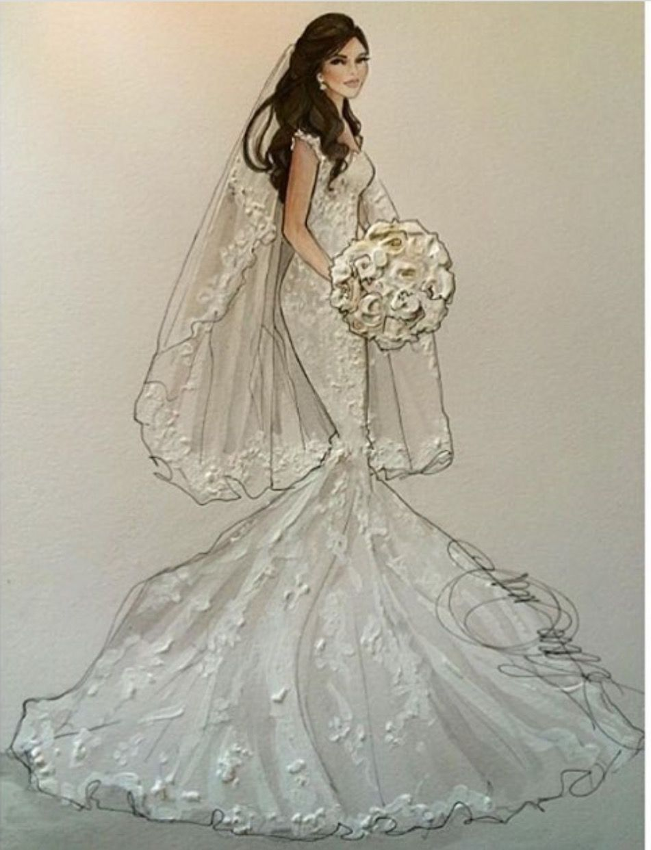 Pin By Jackie On Wedding With Images Wedding Dress Sketches