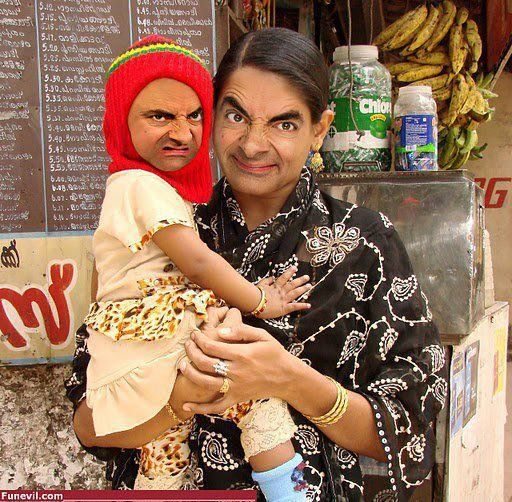Mr Bean Family Funny Picture Mr Bean Funny Mr Bean Photoshop Mr Bean