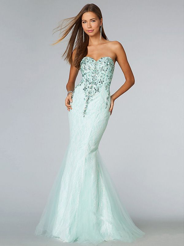 Sweetheart Mermaid Prom Dresses 2014