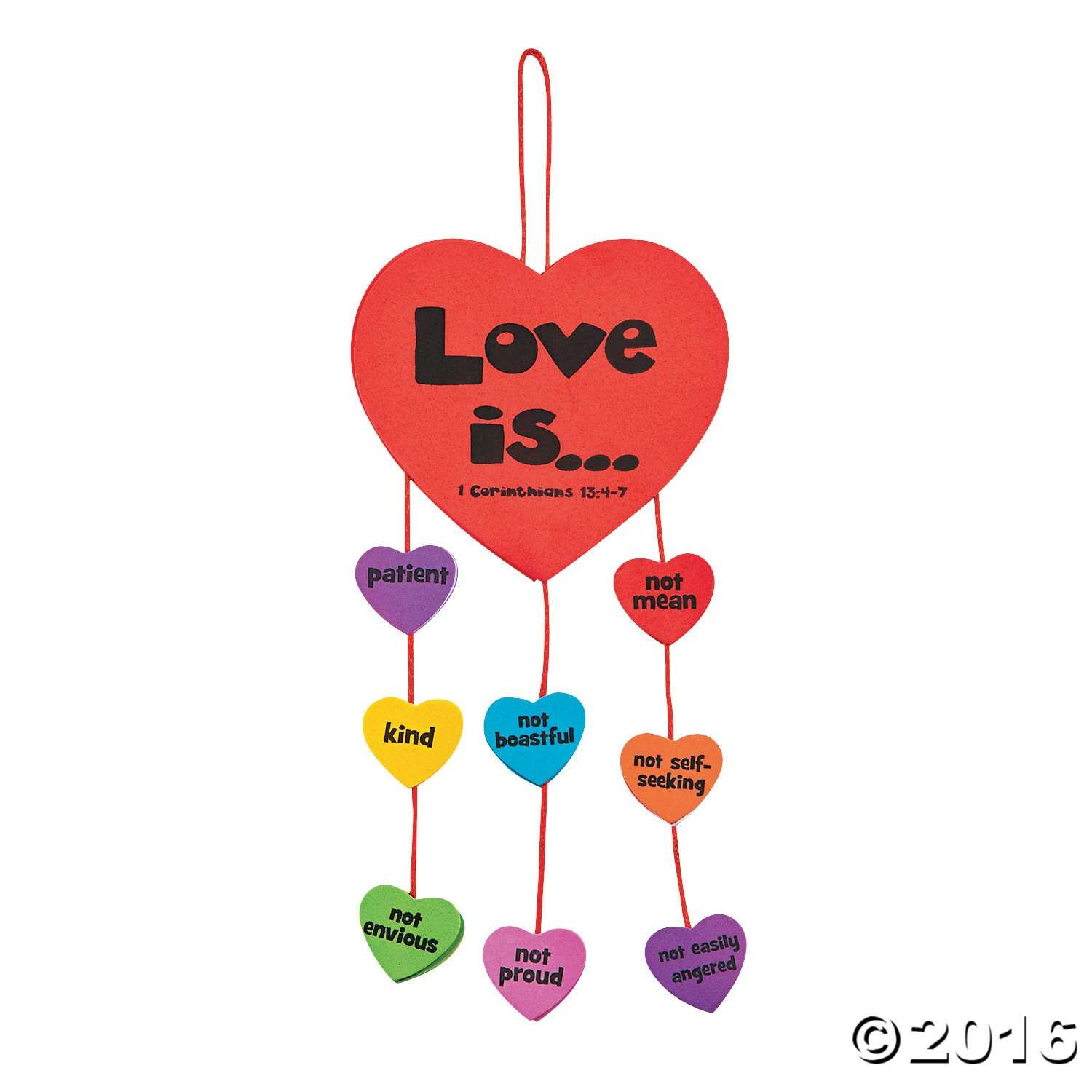 Create an inspirational kids s craft with this mobile kit for Inspirational valentine crafts