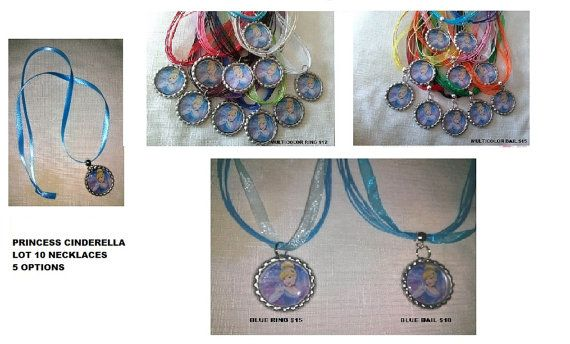 10 Cinderella Necklaces Party Favors, 5 options