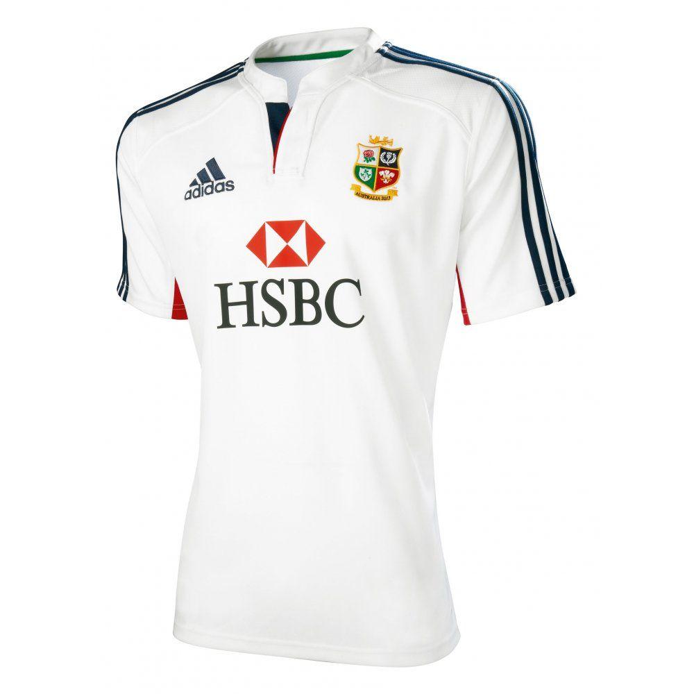 3020efed Adidas British and Irish Lions Training Rugby Shirt White, Navy and ...